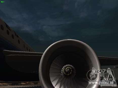Airbus A319 United Airlines für GTA San Andreas Seitenansicht