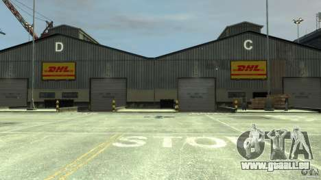 DHL-Port pour GTA 4 quatrième écran
