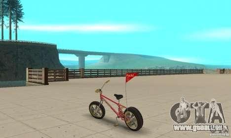 BMX Long 2 New Wheel pour GTA San Andreas sur la vue arrière gauche