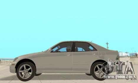 Lexus IS300 Stock pour GTA San Andreas vue de droite