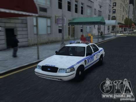 Ford Crown Victoria NYPD 2012 pour GTA 4 est une vue de l'intérieur