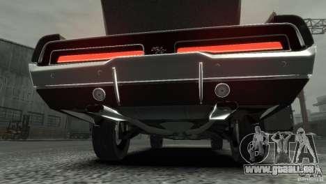 Dodge Charger RT 1969 Tun für GTA 4 Innenansicht