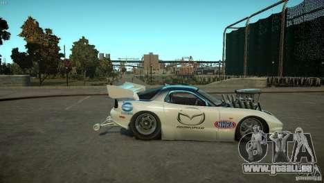 Mazda rx7 Dragster für GTA 4 Rückansicht