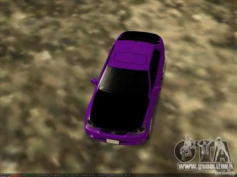 Lexus IS300 - Stock pour GTA San Andreas vue de droite