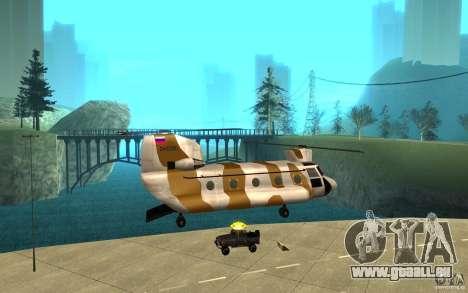 GTA SA Chinook Mod für GTA San Andreas Innen