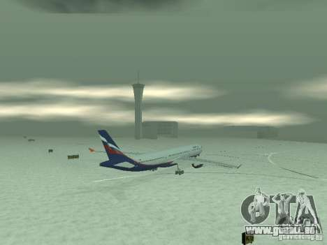 Airbus A330-300 Aeroflot pour GTA San Andreas vue arrière