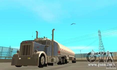 Peterbilt 379 Custom And Tanker Trailer pour GTA San Andreas vue intérieure