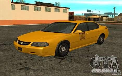 Chevrolet Impala Taxi 2003 pour GTA San Andreas