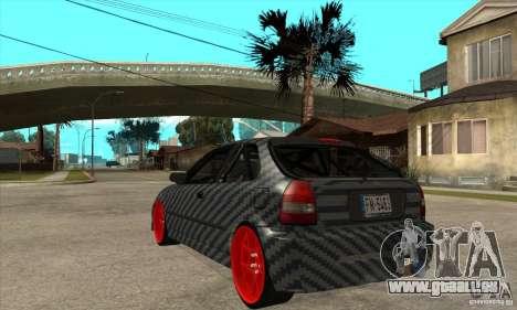 Honda Civic Carbon Latvian Skin pour GTA San Andreas vue de droite