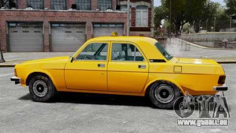 Taxi gaz-3102 pour GTA 4 est une gauche
