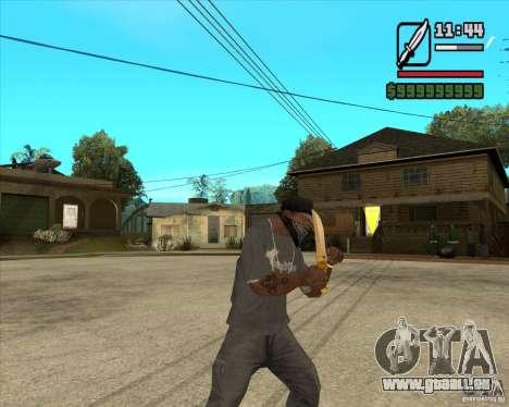 Couteau du Prince pour GTA San Andreas troisième écran