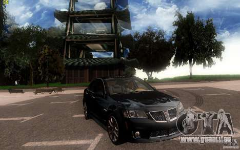 Pontiac G8 GXP 2009 für GTA San Andreas Innenansicht