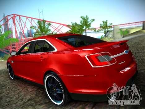 Ford Taurus SHO 2011 pour GTA San Andreas laissé vue