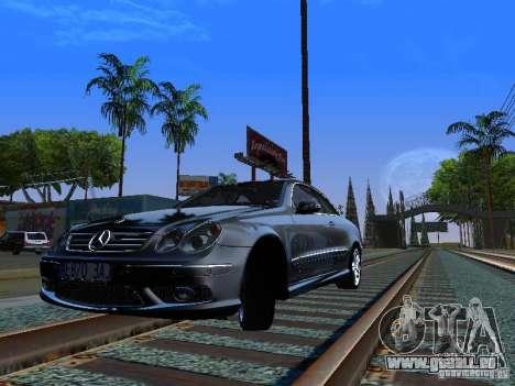 Mercedes-Benz CLK55 AMG pour GTA San Andreas sur la vue arrière gauche