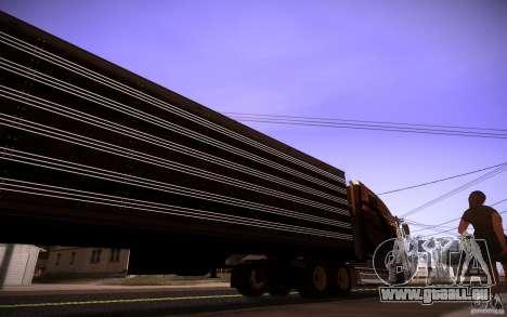 Box Trailer pour GTA San Andreas sur la vue arrière gauche