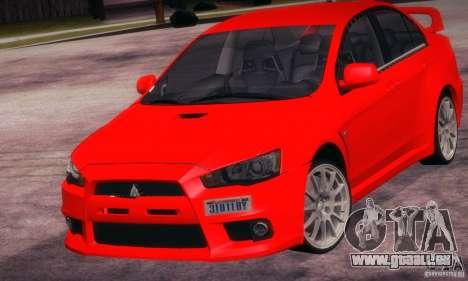 Mitsubishi Lancer Evolution X für GTA San Andreas