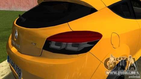Renault Megane 3 Sport pour une vue GTA Vice City de la droite