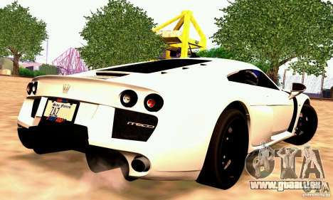 Noble M600 für GTA San Andreas Rückansicht