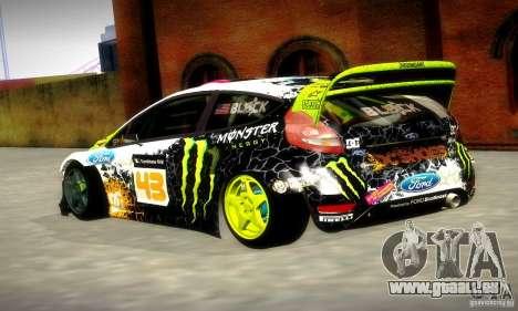 Ford Fiesta Gymkhana 5 pour GTA San Andreas sur la vue arrière gauche