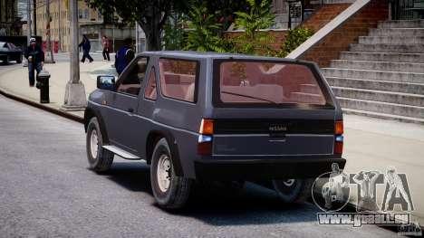 Nissan Terrano für GTA 4 hinten links Ansicht