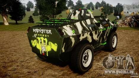 Monster APC für GTA 4 hinten links Ansicht