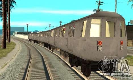 Liberty City Train GTA3 pour GTA San Andreas sur la vue arrière gauche