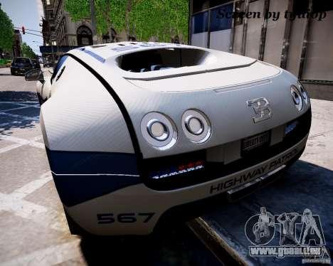 Bugatti Veryon SS COP pour GTA 4 est une gauche