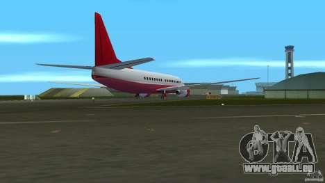 Boeing 737 für GTA Vice City zurück linke Ansicht