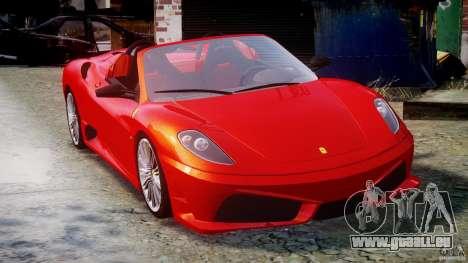 Ferrari F430 Scuderia Spider für GTA 4 Innenansicht