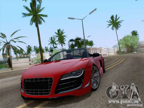 Audi R8 GT Spyder für GTA San Andreas