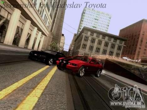 Ford Mustang GT 2011 pour GTA San Andreas vue de côté