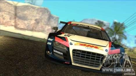Audi R8 LMS pour GTA San Andreas vue de côté