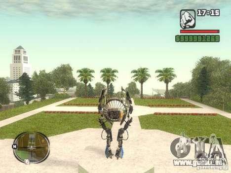 Robot de Portal 2 # 1 pour GTA San Andreas troisième écran