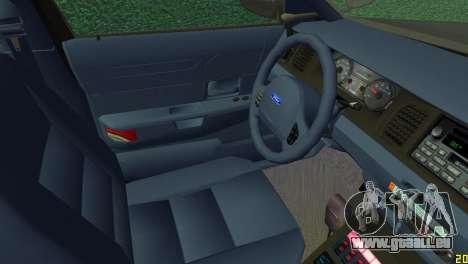 Ford Crown Victoria Police 2003 pour une vue GTA Vice City de la droite