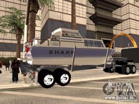 Boat Trailer pour GTA San Andreas sur la vue arrière gauche