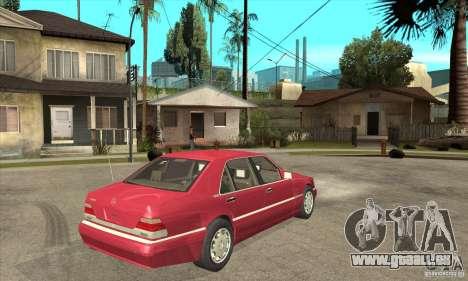 Mercedes-Benz S600 1999 pour GTA San Andreas vue arrière
