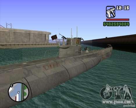 U99 German Submarine für GTA San Andreas fünften Screenshot