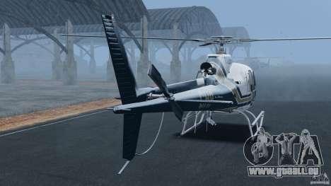 Eurocopter AS350 Ecureuil (Squirrel) pour GTA 4 Vue arrière de la gauche