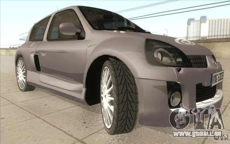 Renault Clio V6 pour GTA San Andreas vue de dessus