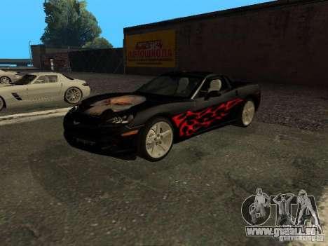Chevrolet Corvette C6 für GTA San Andreas Innenansicht
