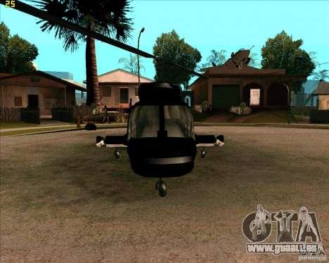 Airwolf pour GTA San Andreas laissé vue