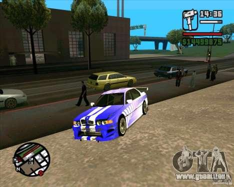 BMW 730i X-Games tuning pour GTA San Andreas vue de droite
