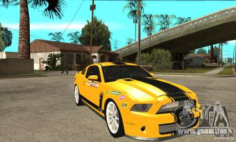 Ford Shelby GT500 Supersnake 2010 pour GTA San Andreas vue arrière