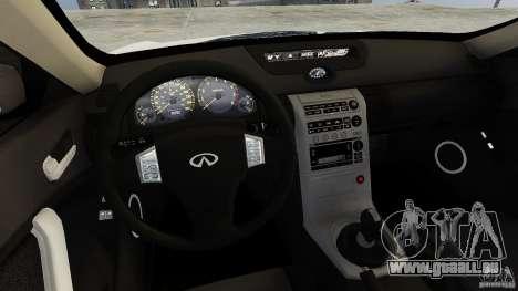 Infiniti G35 pour GTA 4 est une vue de l'intérieur