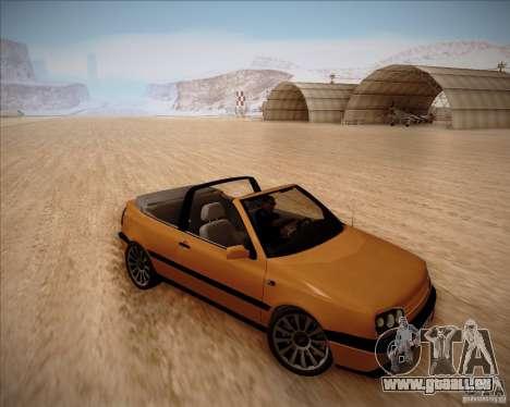 Volkswagen Golf MkIII Cabrio Custom 1995 pour GTA San Andreas laissé vue