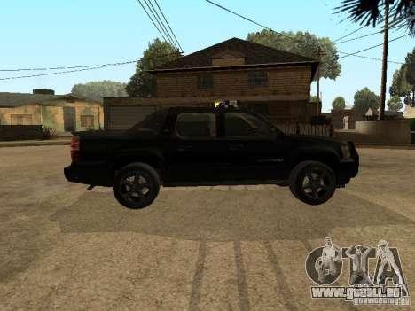 Chevrolet Avalanche Police pour GTA San Andreas laissé vue