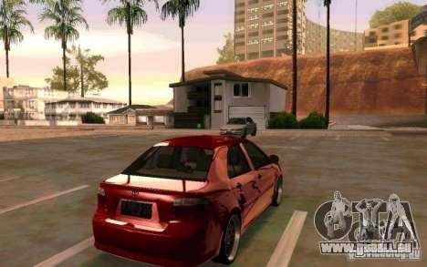 Toyota Vios pour GTA San Andreas laissé vue