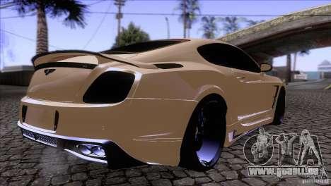Bentley Continental GT Premier 2008 V2.0 für GTA San Andreas Innenansicht