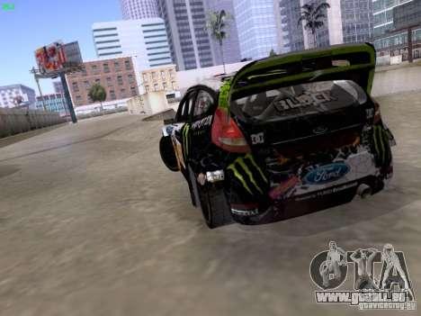 Ken Block Ford Fiesta 2012 für GTA San Andreas Innenansicht