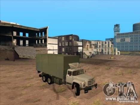 ZIL-133GÂ für GTA San Andreas zurück linke Ansicht